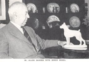Mr Allon Dawson with Boxer model - Taken from OUR DOGS Christmas Number 1951, Page 64